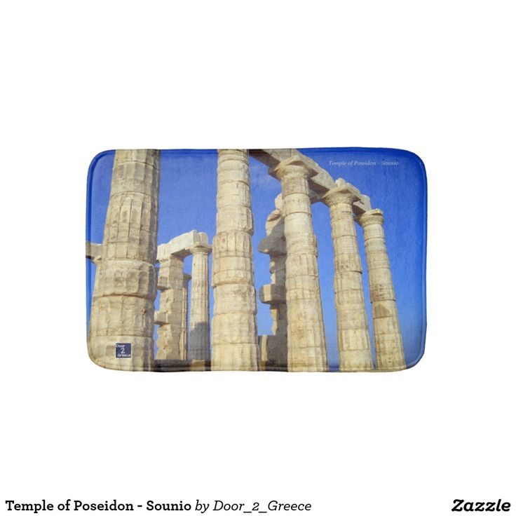 Temple of Poseidon - Sounio Bath Mats
