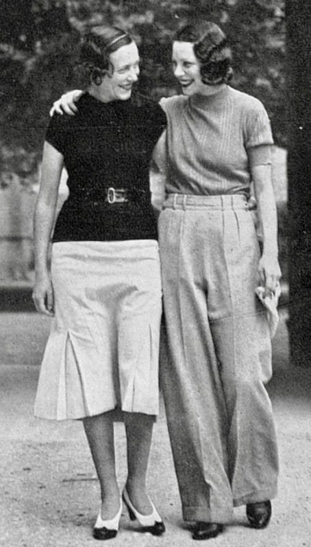 1933 Vintage Mode Stil Tag tragen Rock Top stricken Hemd Hose Hose Frauen Ph