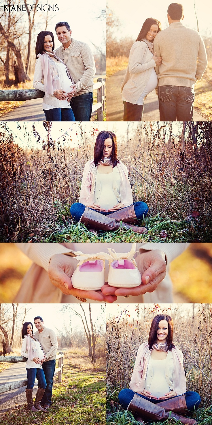 Maternity Photo Session, Outdoors, Fall - www.kjanedesigns.com