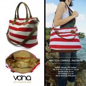 Tas Wanita - Nautical Carriole Red