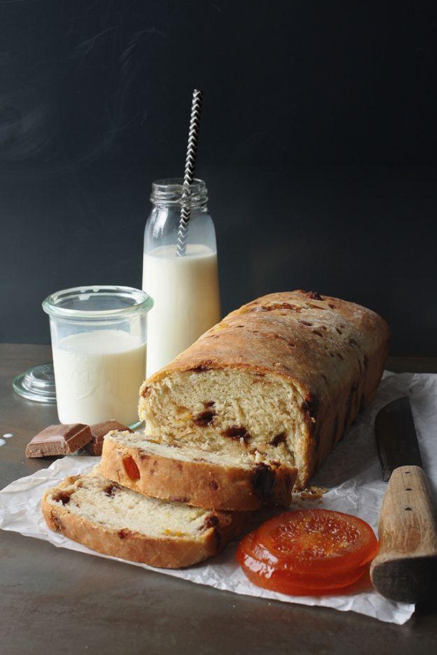 Chocolate and candied orange bread   drożdżowe   Pinterest