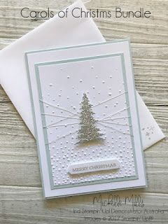 So I'm still making Christmas cards with the Carols of Christmas Bundle and I'm having so much fun!     This time, I wanted to create somet...