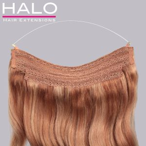 "Hair Extension Geek - 16"" Halo Original ""clip-free"" Hair Extensions"