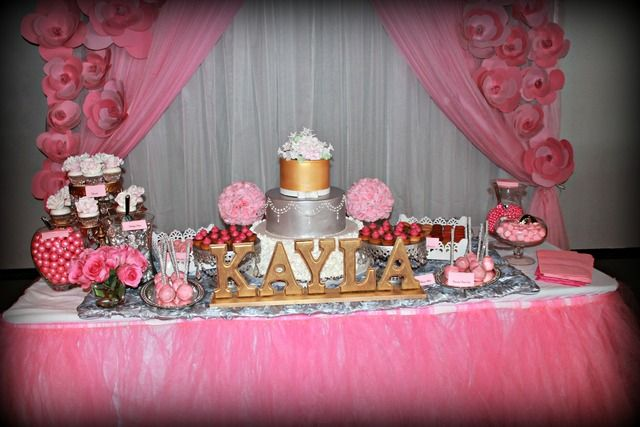 It'S A Girl/ Pink and silver Baby Shower Party Ideas | Photo 1 of 24 | Catch My Party