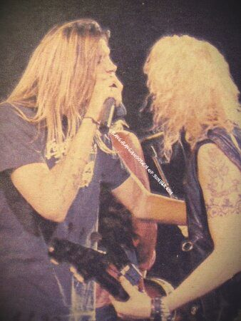Duff McKagan & Sebastian Bach Two blonde giants.