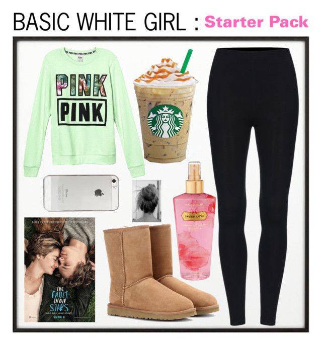 """""""BASIC WHITE GIRL : STARTER PACK"""" by beautybyee on Polyvore featuring By Lassen, UGG Australia, Agent 18 and Victoria's Secret"""