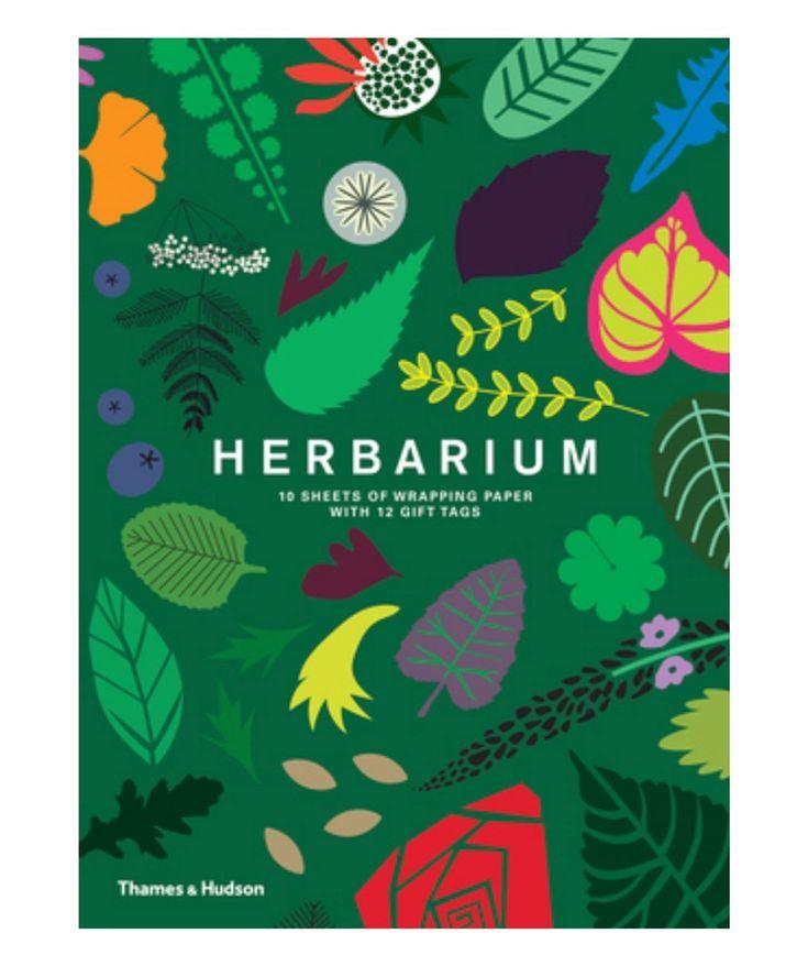 Herbarium Gift Wrap Book by Caz Hildebrand