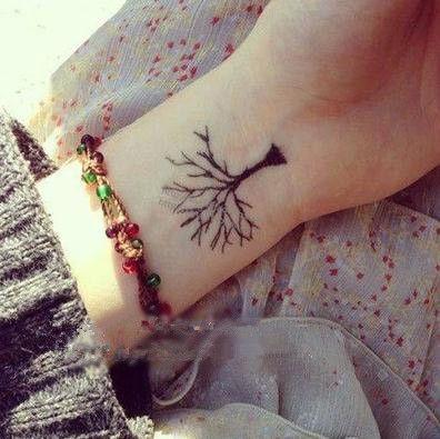 Водонепроницаемый временные татуировки татуировки хной поддельные флэш татуировки наклейки татуировки Taty tatuagem tatto tatuajes дерево растет