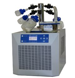 Freeze drying is the process of removing the moisture from a biological product while maintaining the Integrity of the products biological & chemical structure and activities.   http://www.lab360.co.in/freeze-dryer-lypholizer.htm