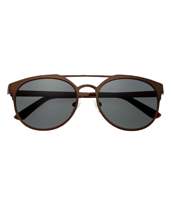 Brown & Black Mensa Titanium Browline Sunglasses