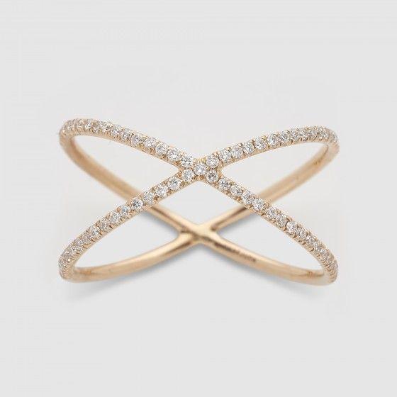 Vanrycke Physalis Diamonds Ring (Rose Gold)