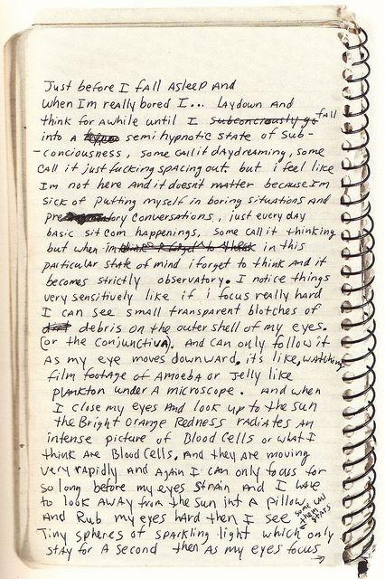 from Kurt Cobain's journals