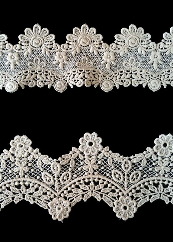 Sewing Material for Clothes Cotton Chemical Motive Lace (016 or  017) 1yard