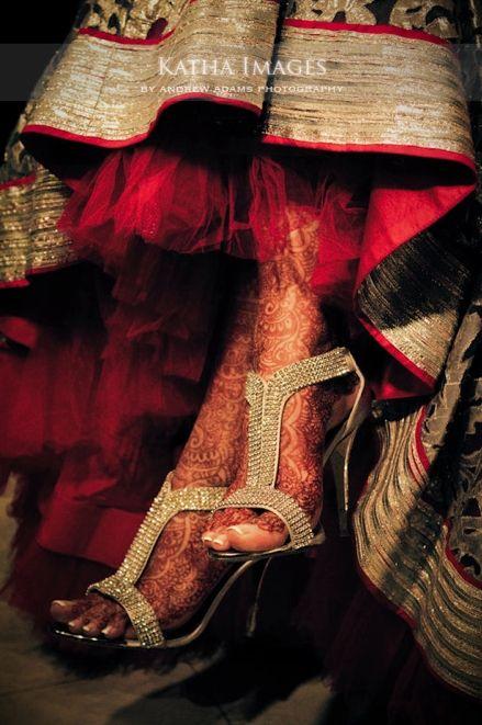 champagne gold high heel bridal shoes #indian #shaadi #wedding  | courtesy Katha Images