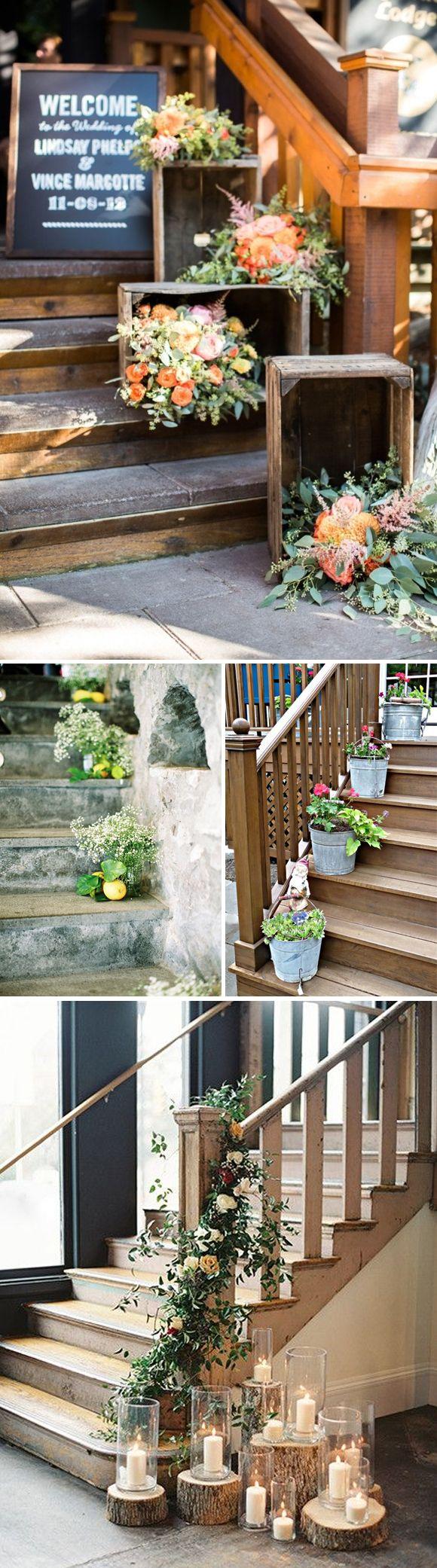 Las 25 mejores ideas sobre escalera para boda en - Decoracion para escaleras ...