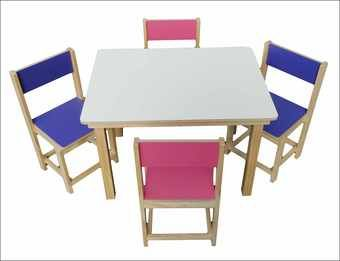 See full view of Kids XL TABLE & 4 CHAIRS