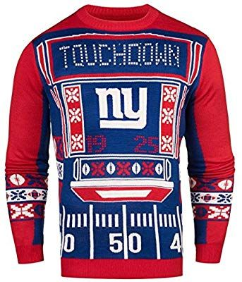 6170be8e7 Amazon.com   FOCO NFL New York Giants Mens Ugly Light Up Crew Neck  Sweaterugly Light Up Crew Neck Sweater
