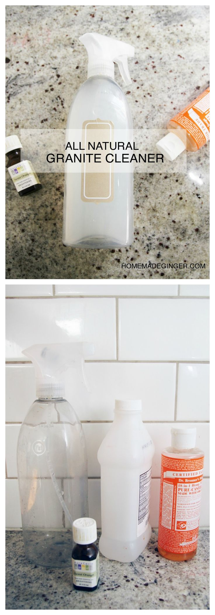 how to clean granite countertops with natural products