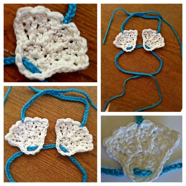 crochet baby shell bikini