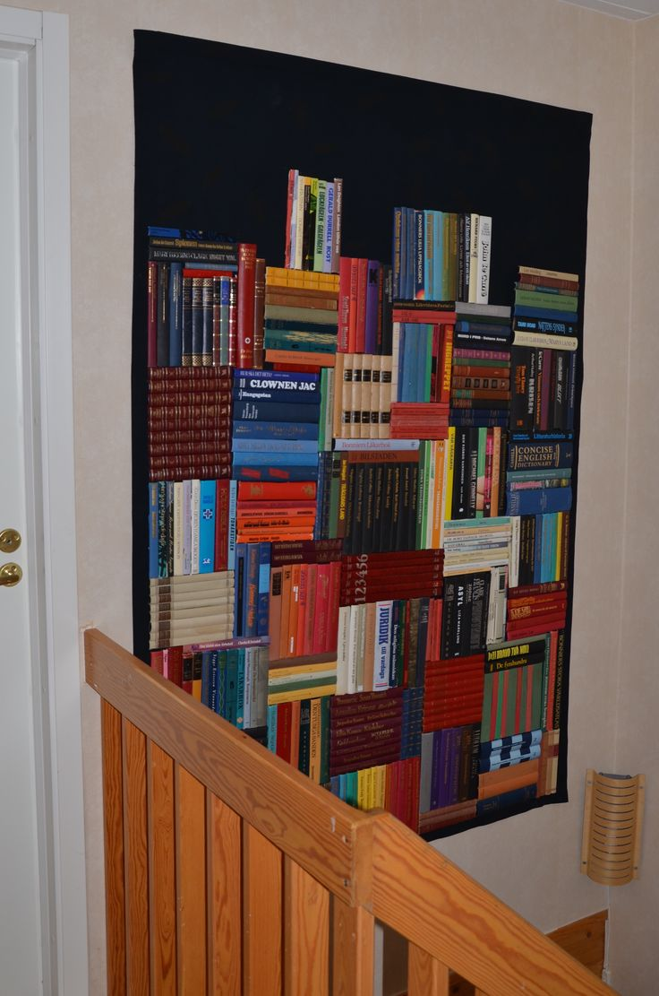 Books, books, books (The bookback glued om fabric.) Made by jehul