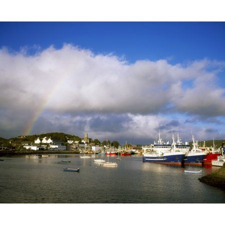 Killybegs Harbour Co Donegal Ireland Canvas Art - The Irish Image Collection Design Pics (17 x 13)