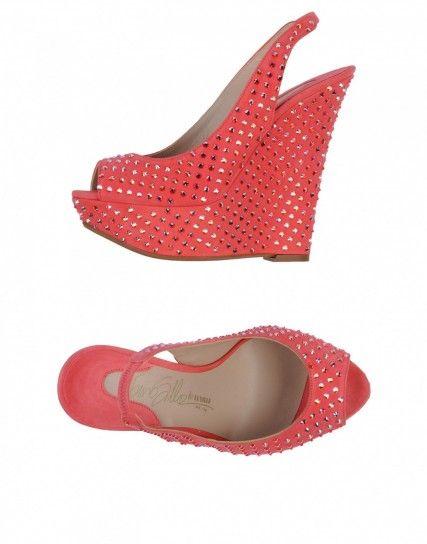 Sandali intrecciati color corallo Le Silla