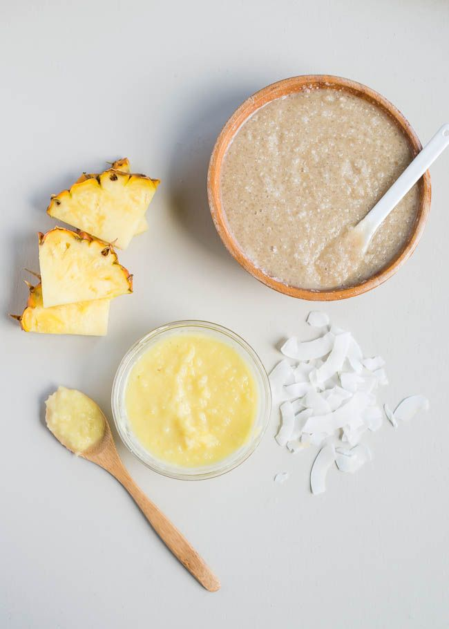Pina Colada Pre-Tan Scrub | Henry Happened   // Ingredients  ½ cup ground rice ½ cup coconut milk ¼ cup brown sugar 1½ tablespoons of grated ginger
