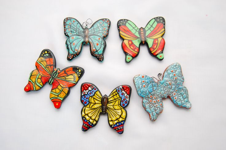 cold porcelain, butterfly, hend made, hand painted, zimna porcelana, magnes, magnes motyle, ręcznie maloane