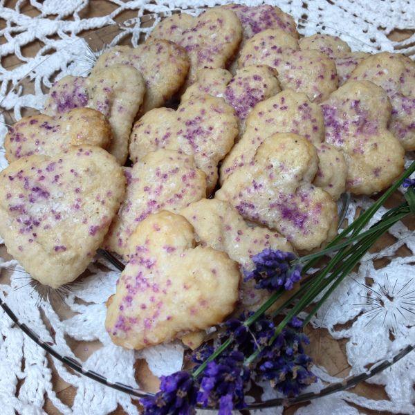 Lavender Spritz Cookies