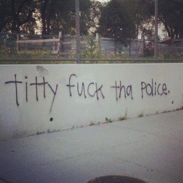 #graffiti #police #titties #handwriting #writing #walls #nyc #brooklyn #williamsburg #rebel ·