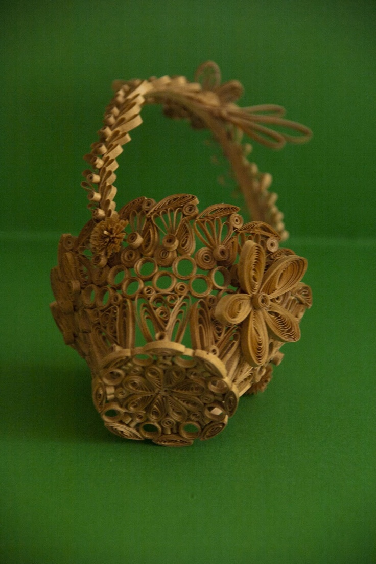 Quilling examples - Basket  (neli)