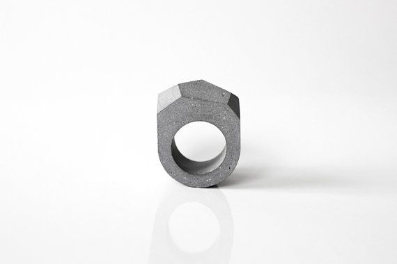 Concrete ring Minimal and Modern concrete jewelry by by ORTOGONALE