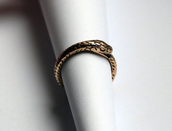 Ouroboros bronze ring handmade brass ouroboros ring