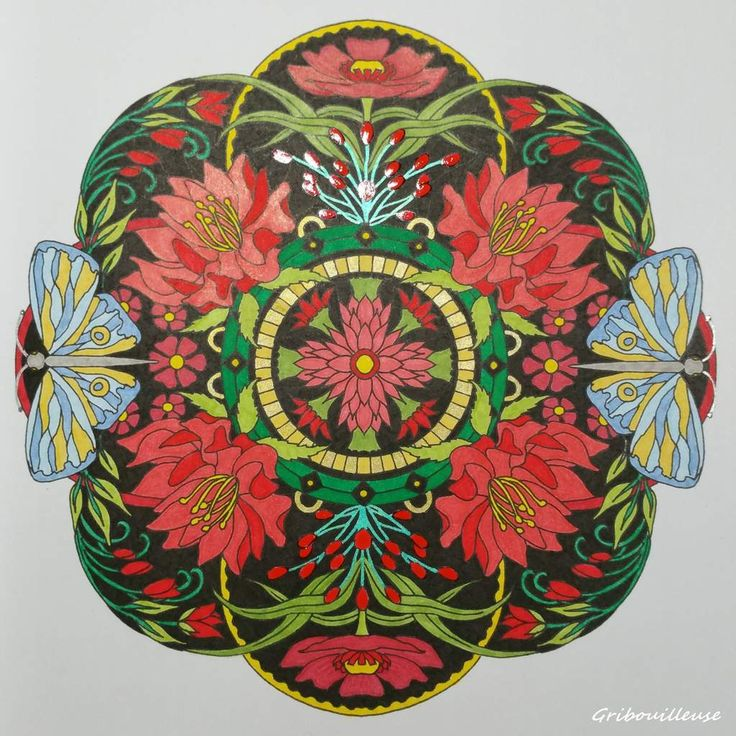 Coloriage Issu Du Livre Mandalas Fleuris