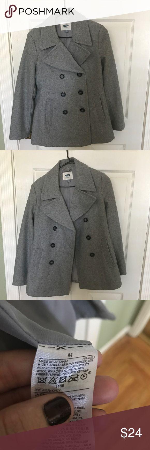 Grey Pea Coat Brand new short double-breasted peacoat light gray color. Old Navy Jackets & Coats Pea Coats