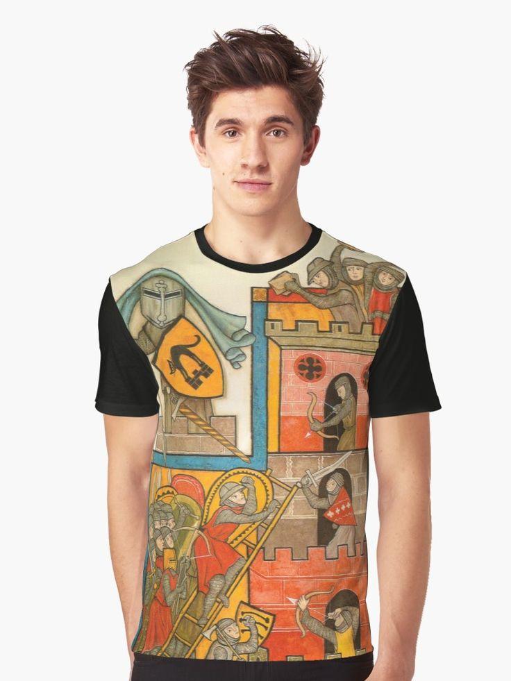 Storming the Castle - Original Hand-Drawn Artwork Graphic T-Shirt