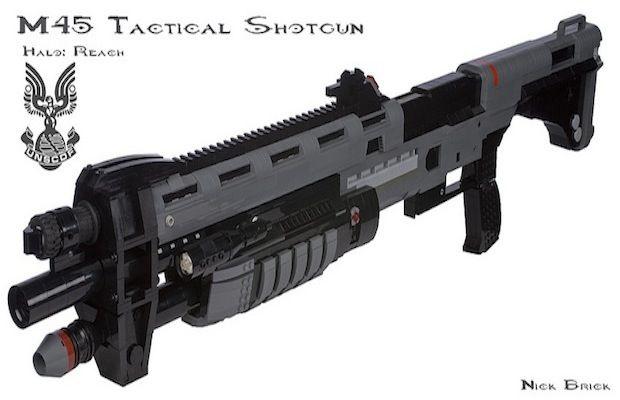Halo Shotgun made of Legos