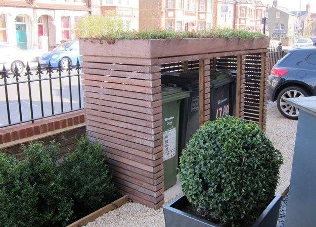 15 besten m lltonnen h user bilder auf pinterest balkon schuppen und verandas. Black Bedroom Furniture Sets. Home Design Ideas