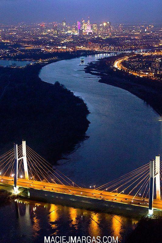 Warsaw, Poland at Night