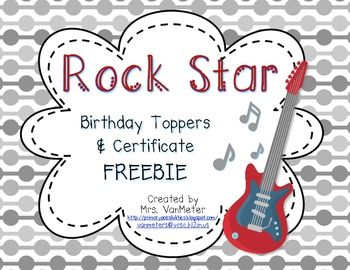 357 best rock star ideas images on pinterest classroom ideas rock star birthday toppers and certificate freebie yelopaper Gallery