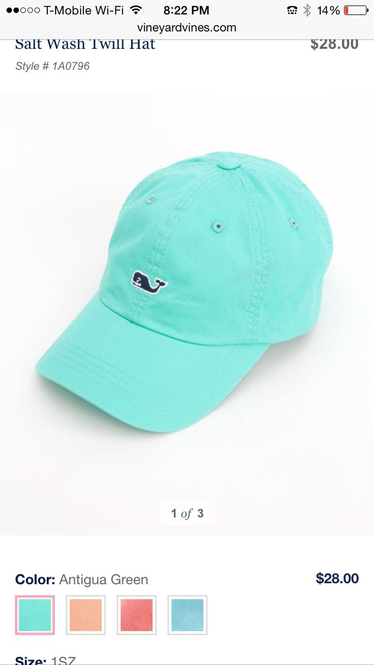Mint Green Vineyard Vines Hat