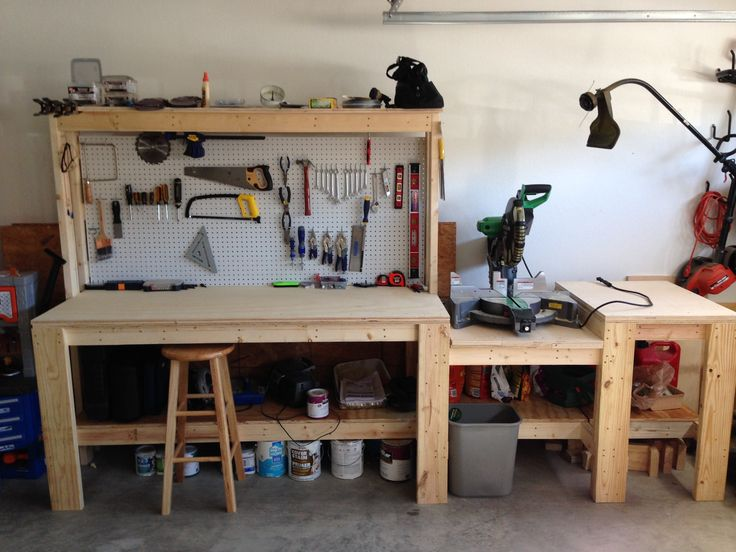 Workbench with miter saw station