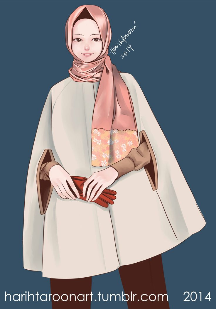 hijab with cape tool: paint tool sai