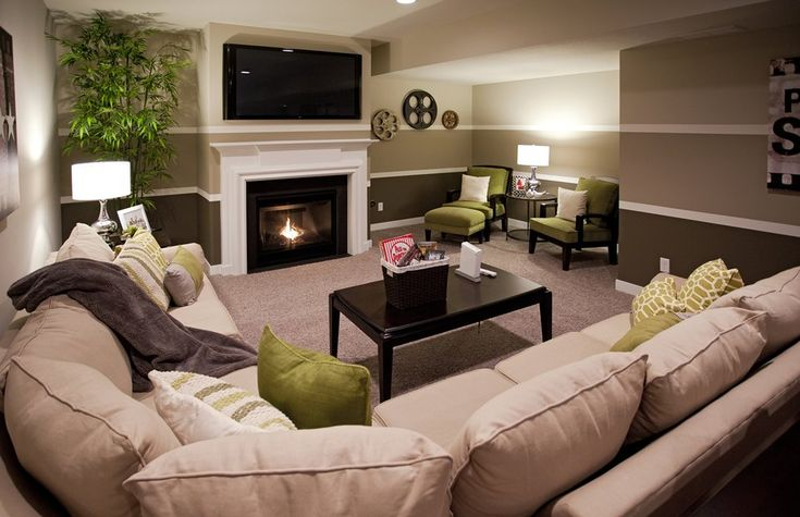 Basements Beautiful Family And Family Rooms On Pinterest
