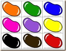 jelly bean color sorting mat | Jelly Bean Color Puzzles: I cut these little guys out then cut them in ...