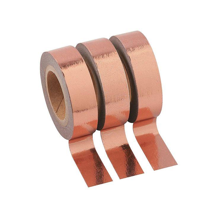 Copper+Washi+Tape+Set+-+OrientalTrading.com