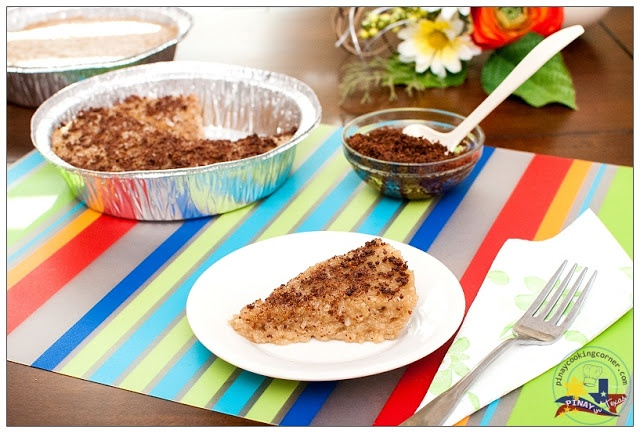 Pinay In Texas Cooking Corner: Biko (Sticky Rice Cake with Fried Coconut Milk Curd Topping)