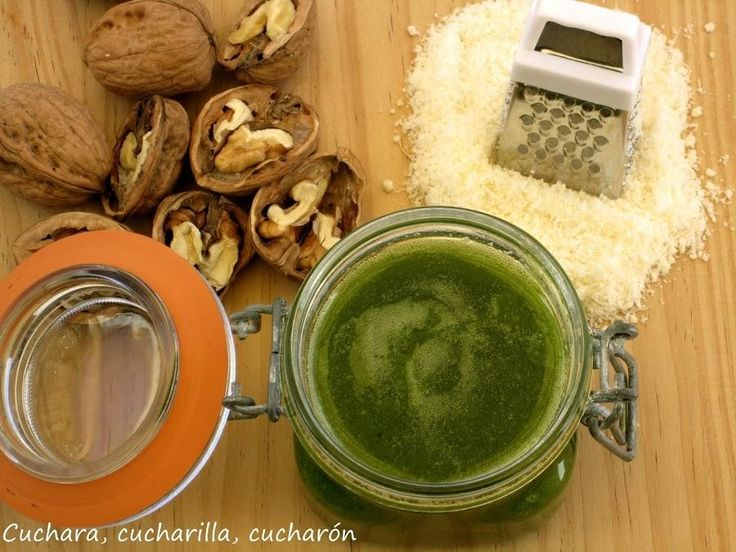 Salsa pesto con nueces