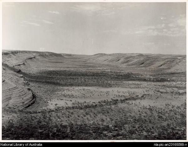 Areyonga Valley, Central Australia, [Northern Territory] [picture] [1946 or 1947] 1 photograph : gelatin silver ; 16 x 21.2 cm. Part of Ar...