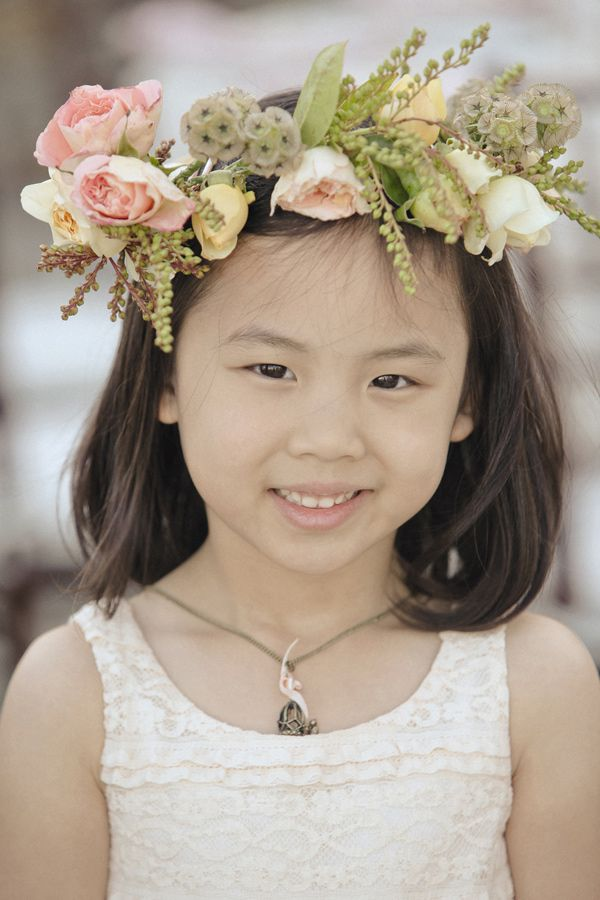 Floral wreath for the flower girl